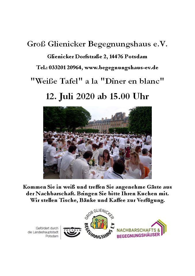 "Weiße Tafel A La ""Dîner En Blanc"""